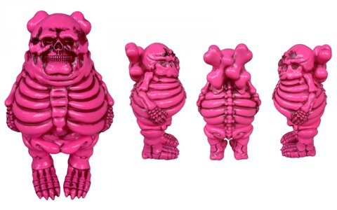 "BlackBook Toys and English team up once again to produce ""Big Boner""! Cast in sofubi (soft vinyl) each special edition colorway  (OG, Pink, Black ,Glow, Rainbow Camo, Camo) was limited to just 50pcs worldwide."